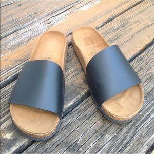 Birkenstock Birkis Black Sandals W 10 EU 41 M 9